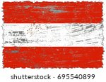 austria flag grunge background. ... | Shutterstock . vector #695540899