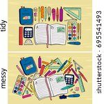 educational image for language... | Shutterstock .eps vector #695541493