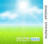 vector background  sunny spring ... | Shutterstock .eps vector #69554410