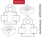 package for bakery.vector... | Shutterstock .eps vector #695545924