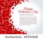 red hearts confetti valentine's ... | Shutterstock .eps vector #69554668