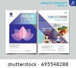 healthy flyer brochure layout...   Shutterstock .eps vector #695548288