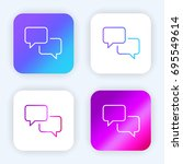 speech bubbles bright purple...