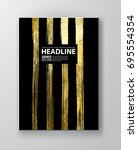 vector black and gold design... | Shutterstock .eps vector #695554354