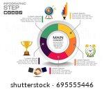 business data process chart....   Shutterstock .eps vector #695555446