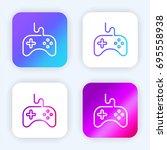 gamepad bright purple and blue...