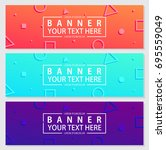 memphis banners with abstract... | Shutterstock .eps vector #695559049