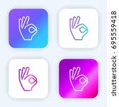 hand bright purple and blue... | Shutterstock .eps vector #695559418