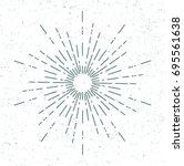 vector of  sunburst or... | Shutterstock .eps vector #695561638
