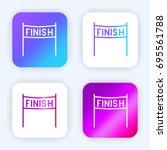 finish bright purple and blue...