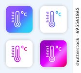 thermometer bright purple and...