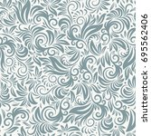 floral seamless pattern. hand... | Shutterstock .eps vector #695562406