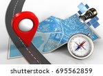 3d illustration of city map... | Shutterstock . vector #695562859