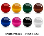Stock Vector Of Snooker Balls...