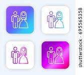 newlyweds bright purple and...