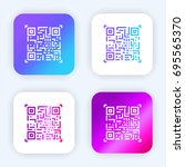 qr code bright purple and blue... | Shutterstock .eps vector #695565370