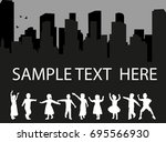 vector  isolated silhouette of... | Shutterstock .eps vector #695566930