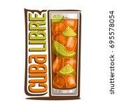 vector illustration of alcohol... | Shutterstock .eps vector #695578054