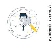 job recruitment  job candidate... | Shutterstock .eps vector #695578714