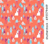 vector seamless pattern in flat ...   Shutterstock .eps vector #695579449