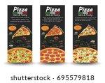 pizza pizzeria flyer vector... | Shutterstock .eps vector #695579818