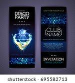 disco corporate identity... | Shutterstock .eps vector #695582713