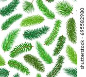 conifer evergreen pine fir... | Shutterstock .eps vector #695582980