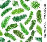 conifer evergreen pine fir... | Shutterstock .eps vector #695582980