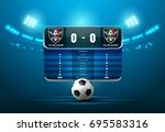 soccer football with scoreboard ... | Shutterstock .eps vector #695583316