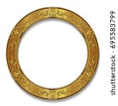 round frame gold color with... | Shutterstock .eps vector #695583799
