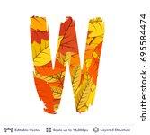 autumn fall bright orange... | Shutterstock .eps vector #695584474