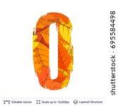 autumn fall bright orange... | Shutterstock .eps vector #695584498