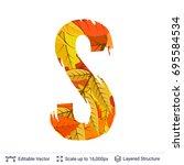 autumn fall bright orange... | Shutterstock .eps vector #695584534