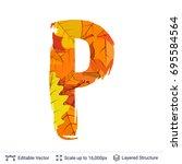 autumn fall bright orange... | Shutterstock .eps vector #695584564