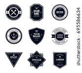 vintage style badge and label... | Shutterstock .eps vector #695586634