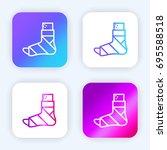 plastered foot bright purple...