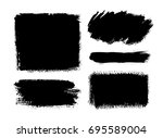 brush strokes isolated. ink... | Shutterstock .eps vector #695589004