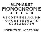 monochrome black and gray set... | Shutterstock .eps vector #695590180
