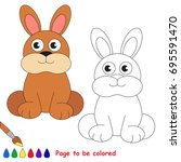 cute hare to be colored  the... | Shutterstock .eps vector #695591470