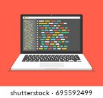 programming  web development... | Shutterstock .eps vector #695592499