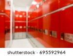 blur locker room | Shutterstock . vector #695592964