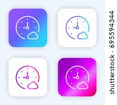 stopwatch bright purple and...