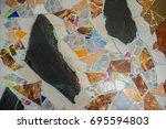 colorful terrazzo floor texture ... | Shutterstock . vector #695594803