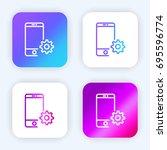 smartphone bright purple and...