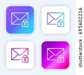 mail bright purple and blue...