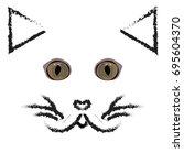 cat  logo  icon  symbol  brush. | Shutterstock .eps vector #695604370