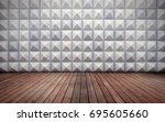 abstract empty concrete... | Shutterstock . vector #695605660