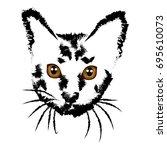 ocicat  icon  logo  symbol. | Shutterstock .eps vector #695610073