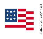 us flag vector logo | Shutterstock .eps vector #695610574