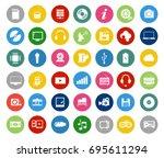 multimedia symbols  sound... | Shutterstock .eps vector #695611294